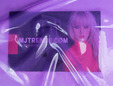 Semi-transparent lilac latex sheeting with shine applied. thumbnail image.