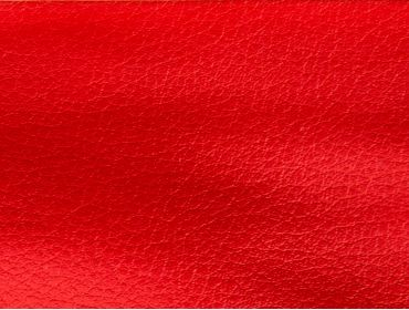 Red faux leather fabric.