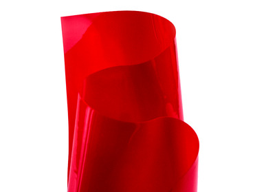 Transparent red vinyl pvc sheeting material..