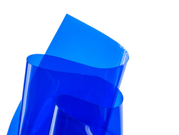 Blue transparent vinyl material sheeting.