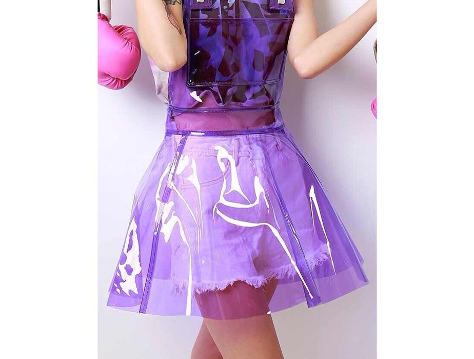 Mjtrends Purple Transparent Vinyl