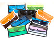 Colored clear plastic vinyl fabric for bags. thumbnail image.