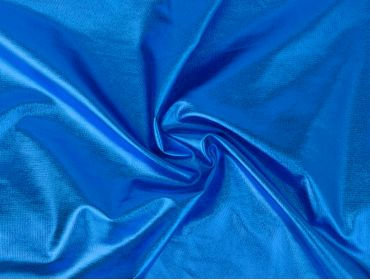blue metallic foil spandex 4 way stretch cosplay fabric
