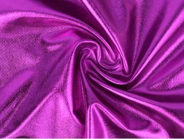 metallic purple foil spandex fabric