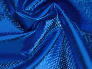 4 way stretch royal blue foil spandex lame fabric