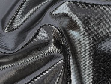 silver metallic spandex foil 4 way stretch fabric