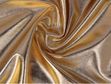 metallic gold 4 way stretch spandex foil lame material