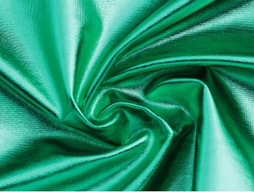 4 way stretch metallic green foil spandex fabric