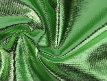 lime green 4 way stretch spandex foil fabric