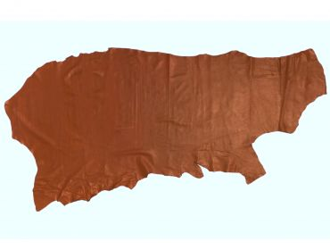 rust colored leather cow hide