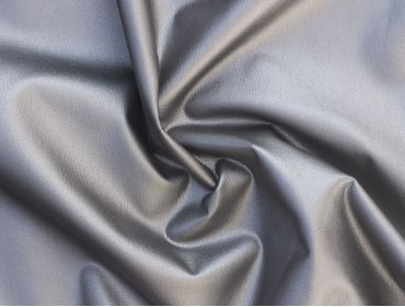 metallic silver 4 way stretch faux leather fabric
