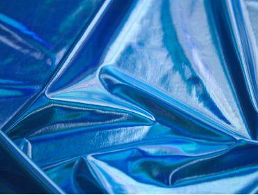 spandex lame iridescent blue fabric