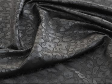cheetah print black spandex fabric