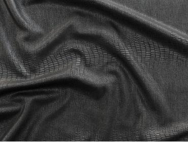 spandex alligator print black fabric