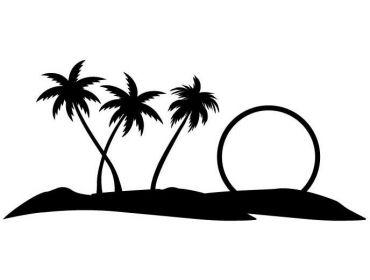 beach scene latex applique