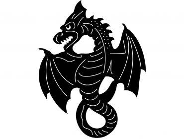 medieival dragon applique cosplay