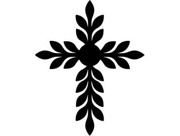 feather cross religious applique cosplay