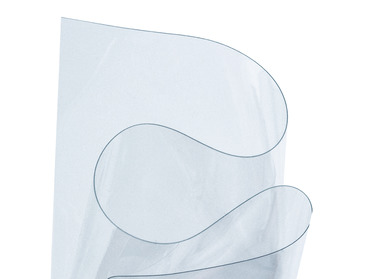 Clear transparent vinyl sheeting material