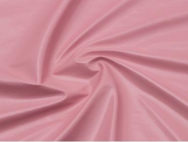 Baby pink vinyl fabric.