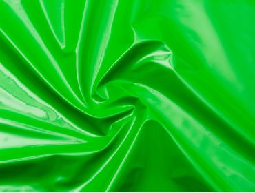Lime green vinyl fabric.