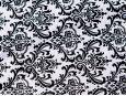 Black and white jacquard vinyl fabric. thumbnail image.