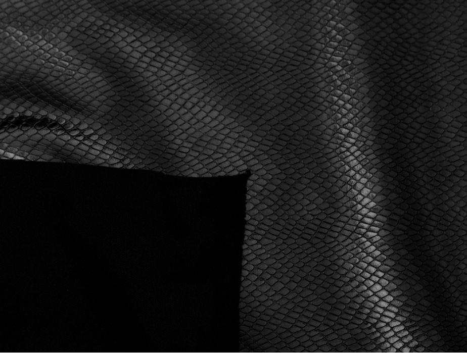 Mjtrends Snakeskin Fabric Black