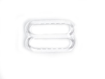 Clear plastic bra slides.
