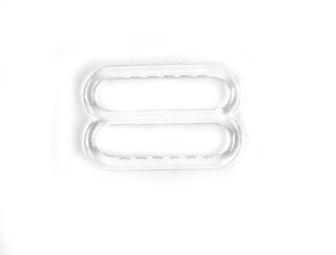 Clear plastic bra slides.
