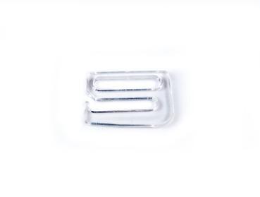 Clear Plastic bra hooks.