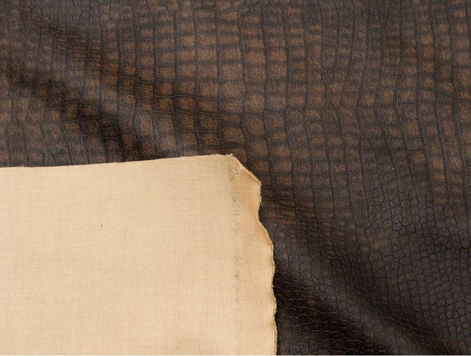 Mjtrends Snakeskin Fabric Crocadile Brown