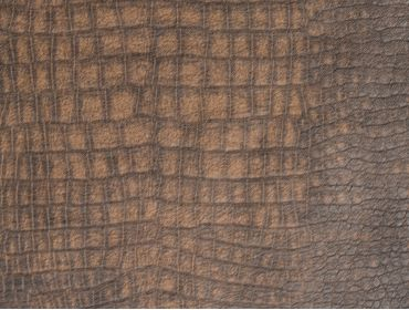 Faux crocodile leather fabric.