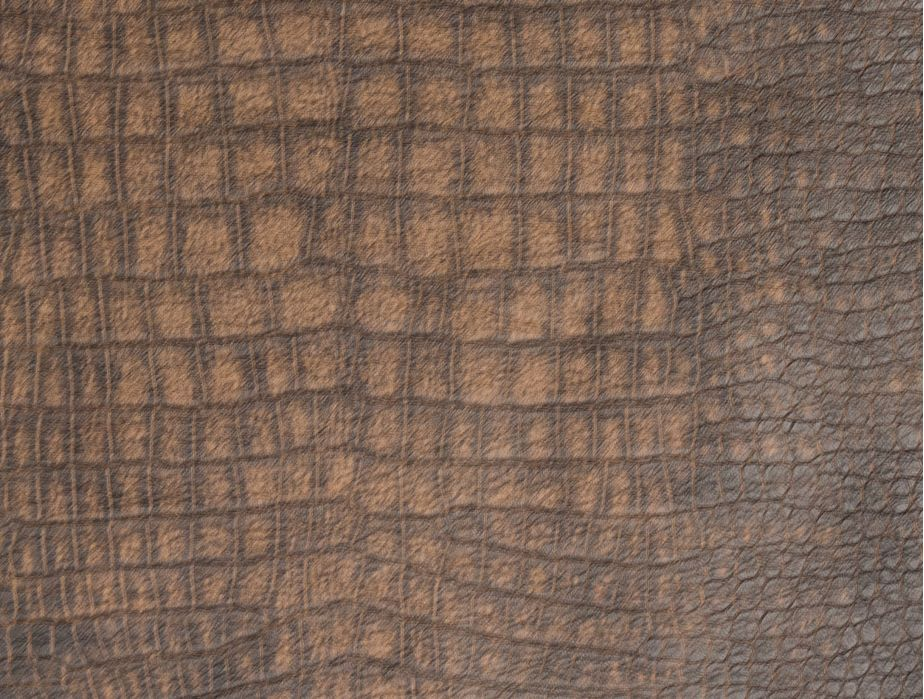 Mjtrends Snakeskin Fabric Crocadile Brown