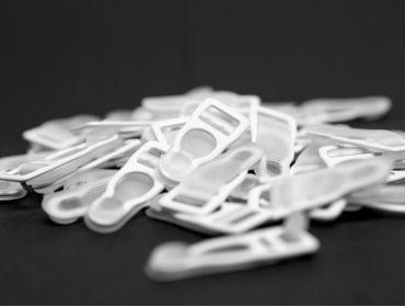 White garter clips.
