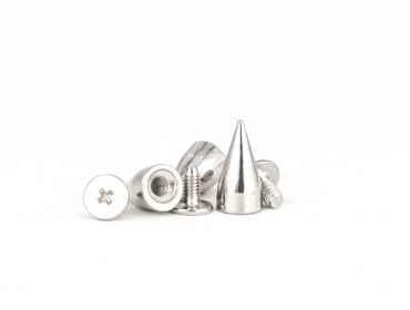 Cone style silver spike.