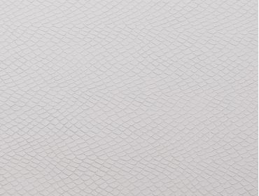 White faux leather snakeskin fabric.