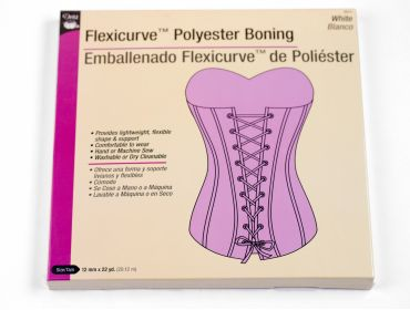 Dritz white polyester boning for corsets.