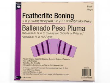 Dritz black featherlite boning for bustiers.
