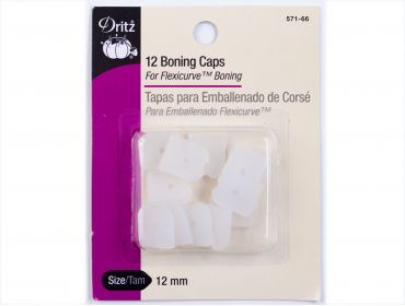 Dritz clear boning caps for corsets.