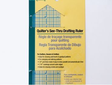 See-thru drafting ruler.