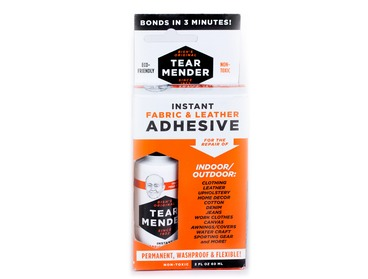 Instant fabric leather adhesive.