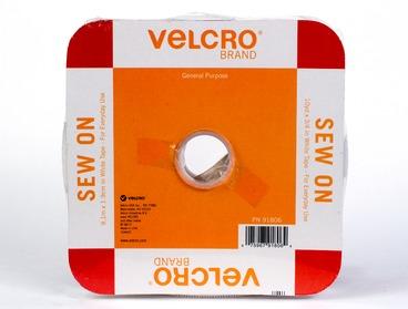 White velcro in bulk.