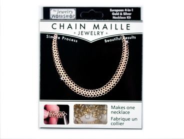 DIY chainmail necklace kit.