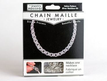 Chain maille necklace kit with Helms pattern.