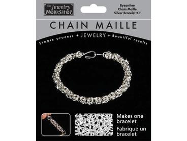 Byzantine chain maille bracelet kit.