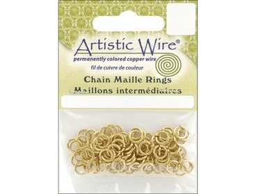 Brass chain maille jump rings.
