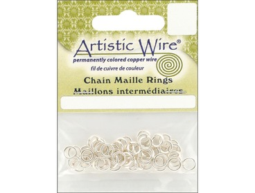 Silver chain maille rings.