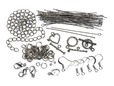 Gun metal silver jewelry making kit. thumbnail image.