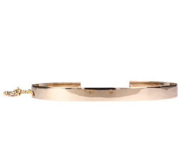 Womens thin gold metal belt.