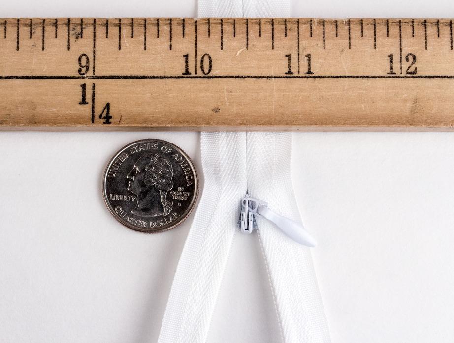 White 9 inches Zipper 9 Invisible Nylon Zipper