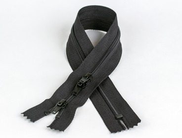 12 inch 3-way black zipper.